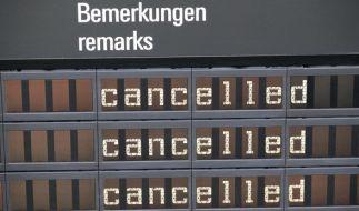 Am Dienstag und Mittwoch fallen wieder viele Flüge aus. (Foto)