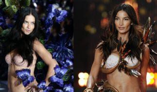 """Adriana Lima (35) und Lily Aldridge (31) gehören zu den Hauptengeln von """"Victoria's Secret"""". (Foto)"""