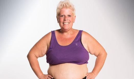 Marion aus Trier ist 51 Jahre und bringt 96,8 kg Startgewicht mit. Sie ist sehr unzufrieden mit ihrer Figur. Tochter Dunja macht ebenfalls mit. (Foto)