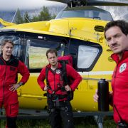 Michael (Robert Lohr, l.), Ben (Mirko Lang, M.) und Tobias (Markus Brandl, r.) auf der Suche nach dem vermissten Frank Brandstetter.
