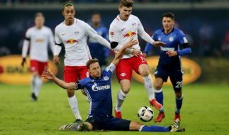 Im Ligaspiel gegen RB Leipzig am vergangenen Samstag musste sich Schalke mit 2:1 geschlagen geben. (Foto)