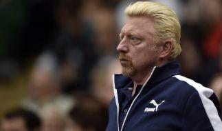 Boris Becker beim Match in Wimbledon. (Foto)
