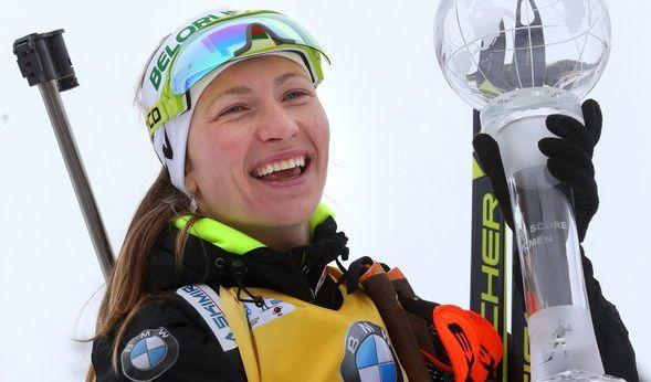 Die weißrussische Biathletin Darya Domratcheva kann neben den drei Olympischen Goldmedaillen 2014 in Sotchi auch auf sechs WM-Medaillen und 25 Weltcup-Siege zurückblicken.
