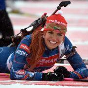 Biathletin Gabriela Koukalová aus Tschechien kann auf zwei Medaillen bei Olympia, den WM-Titel in der Mixed-Staffel und 18 Weltcup-Siege zurückblicken. Sie geht nie ungeschminkt an den Start.