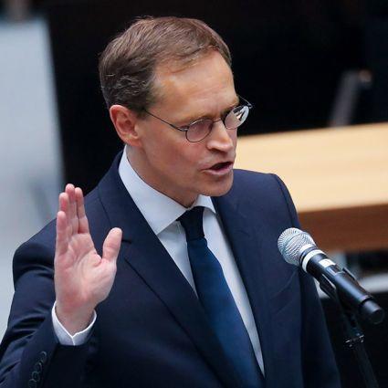 Der SPD-Politiker Michael Müller bei seiner Vereidigung als Regierender Bürgermeister von Berlin.