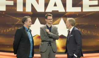 """""""Der Quiz-Champion - Das 2016-Special"""" mit Markus Solty, Martin Wolf und Johannes B. Kerner. (Foto)"""