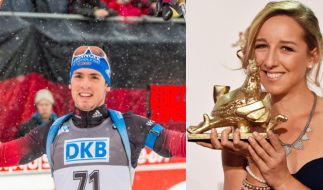 Schon seit über zwei Jahren ein Paar: Biathleten Simon Schempp und Franziska Preuß (Foto)