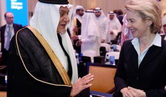 Ursula von der Leyen während ihres Besuchs in Saudi-Arabien. (Foto)