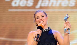 Hat gute Chancen, in diesem Jahr zur Sportlerin des Jahres gekürt zu werden: Tennisspielerin Angelique Kerber. Hier noch die Zweitplatzierte bei der Wahl 2012. (Foto)