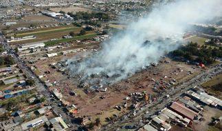 Bei einer Explosion auf einem Markt für Pyrotechnik in Mexiko starben mindestens 26 Menschen. (Foto)