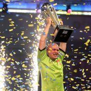 Weltmeister Gary Anderson unterliegt Michael van Gerwen im Duell (Foto)