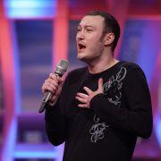 Maksym Doshy (26) aus Wissen, Verkäufer, singt eine Eigenkomposition mit dem Titel