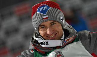 Kamil Stoch aus Polen gewann die Vierschanzentournee 2017 dank konstant guter Leistungen. (Foto)