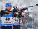 Der Biathlon-Weltcup in Oberhof ging am Samstag in die Verfolgungsrennen. (Foto)