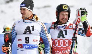 Felix Neureuther und Marcel Hirscher. (Foto)