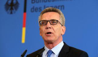 Bundesinnenminister Thomas de Maizière (CDU). (Foto)