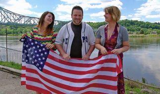 Tochter Kauther, Ex-Soldat Dwayne und Christina wagen gemeinsam einen Neuanfang in den USA. (Foto)