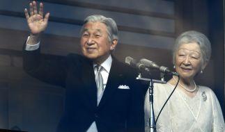 Japans Kaiser Akihito und seine Frau Michiko. (Foto)