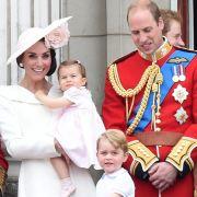Prinz William von Großbritannien, Herzogin Catherine von Cambridge, Prinz George und Prinzessin Charlotte