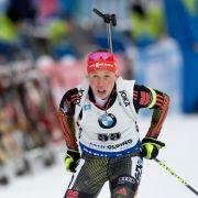 Dahlmeier fährt auf Platz drei - Deutsche Biathleten enttäuschen in Ruhpolding (Foto)
