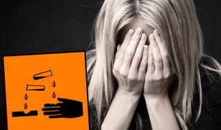 Weil sich seine Partnerin von ihm getrennt hatte, überschüttete ein Mann seine Ex-Freundin mit Säure (Symbolbild). (Foto)