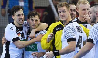 Die deutschen Handballer hatten nach dem Vorrundensieg gegen Ungarn bei der Handball-WM 2017 allen Grund zum Jubeln. (Foto)