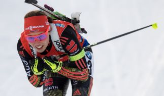 Biathletin Laura Dahlmeier werden für den Weltcup in Antholz gute Siegchancen prophezeit. (Foto)