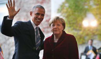 Barack Obama nutzte seinen letzten Anruf als US-Präsident, um sich bei Angela Merkel zu bedanken. (Foto)