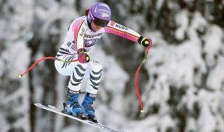 Viktoria Rebensburg aus Deutschland fährt am 20.01.2017 im zweiten Abfahrtstraining der Damen in Garmisch-Partenkirchen (Bayern) und belegte Platz 10. (Foto)