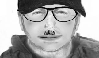 Die Polizei sucht den mutmaßlichen Mörder mit einem Phantombild. (Foto)