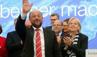 Wird Amtsinhaberin Angela Merkel langsam aber sicher gefährlich: SPD-Kanzlerkandidat Martin Schulz. (Foto)