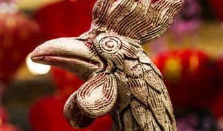 Das chinesische Neujahrsfest 2017 läutet das Jahr des Hahnes ein. (Foto)