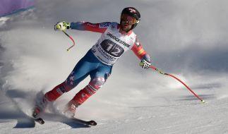 Travis Ganong aus den USA in Aktion am 27.01.2017 bei der Abfahrt der Herren auf der Kandahar in Garmisch-Partenkirchen (Bayern). Das abgesagte Lauberhorn-Rennen von Wengen wird in Garmisch-Partenkirchen nachgeholt. (Foto)