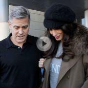 Versteckt Amal Clooney hier ihren Babybauch?