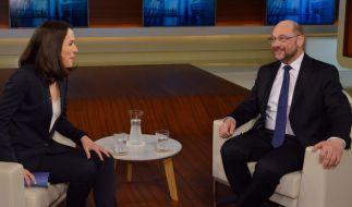 Martin Schulz, designierter Kanzlerkandidat der SPD, im Gespräch mit Anne Will. (Foto)