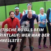 Britische Royals beim Sprintlauf: Wer war der Schnellste?