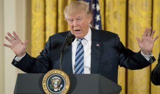 Wenn es nach der Einschätzung von US-Psychotherapeuten geht, ist Donald Trump geistig krank und nicht in der Lage, das Präsidentenamt auszuüben. (Foto)