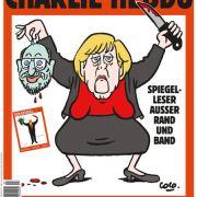 Blutige Solidarität! Bundeskanzlerin köpft Martin Schulz (Foto)