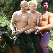 Honey in einer Reihe mit Donald Trump und Wladimir Putin.