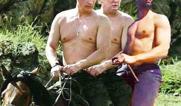 Honey in einer Reihe mit Donald Trump und Wladimir Putin. (Foto)