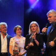 Und erhielten sogar Preise, wie hier bei der Abendgala des Krimi-Festivals
