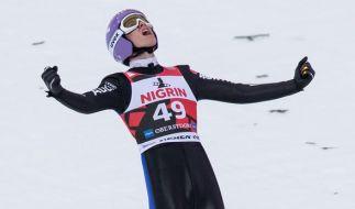 Skispringer Andreas Wellinger im Finale beim Skifliegen am 5. Februar in Oberstdorf. (Foto)