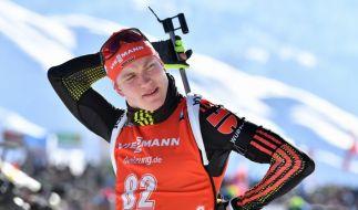 Benedikt Doll hat bei der Biathlon-Weltmeisterschaft in Hochfilzen die Goldmedaille im Sprint gewonnen. (Foto)