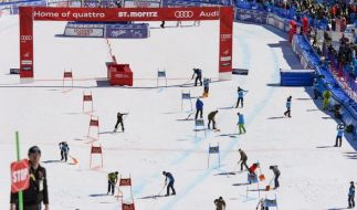 Bei heutigen Team-Event bei der Ski-WM in St. Moritz wollen die deutschen Fahrer endlich aufs Podium. (Foto)