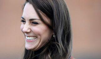 Herzogin Kate hatte auch ohne Prinz William jede Menge Spaß am Valentinstag. (Foto)