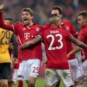 Bayern nach Torspektakel auf Viertelfinal-Kurs - 5:1 gegen Arsenal (Foto)