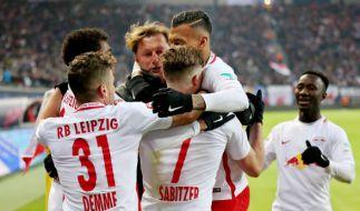 RB Leipzig hat den Negativtrend in der Fußball-Bundesliga gegen Borussia Mönchengladbach gestoppt. (Foto)