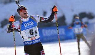 Simon Schempp holte WM-Gold beim Massenstart. (Foto)