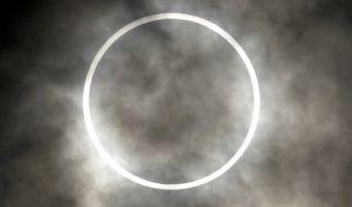 Am Sonntag (26.03.2017) ist auf der Erde eine ringförmige Sonnenfinsternis sichtbar. (Foto)
