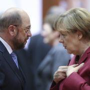 Druck auf Angela Merkel durch Martin Schulz wächst (Foto)